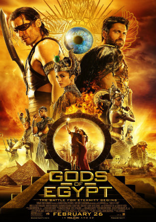 Poster of Gods of Egypt (2016)   Dual Audio 300Mb