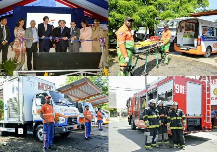 [Fotos / Video] Presidente Medina deja en funcionamiento sistema 9-1-1 en la provincia Duarte