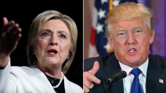 Clinton, seis puntos por delante de Trump, según un último sondeo