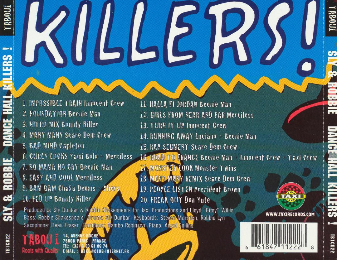 OPDK¹: Sly & Robbie - Dancehall Killers (Tabou Records CD, 2000)