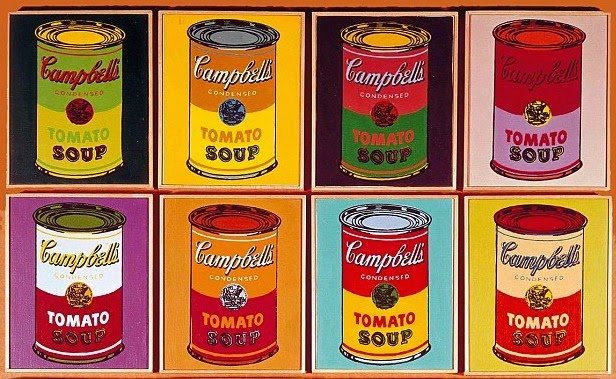 Andy warhol campbell 39 s for Barattoli di zuppa campbell s