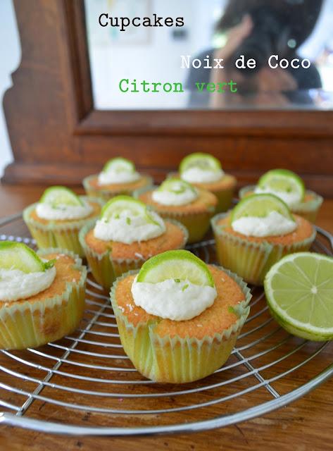 Cupcakes noix de coco et citron vert