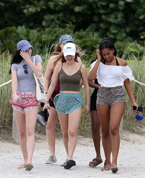 Sasha Obama on Bikini at Miami Beach