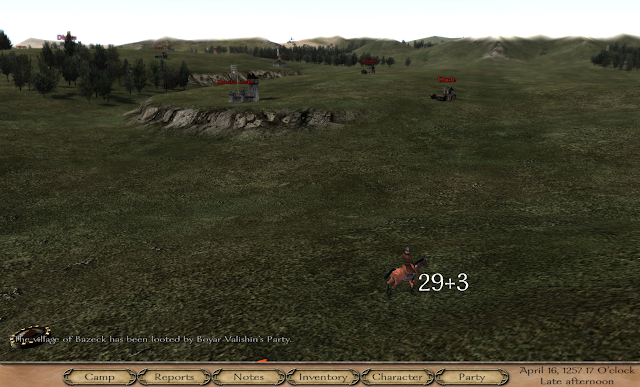 The overworld campaign map in Mount and Blade