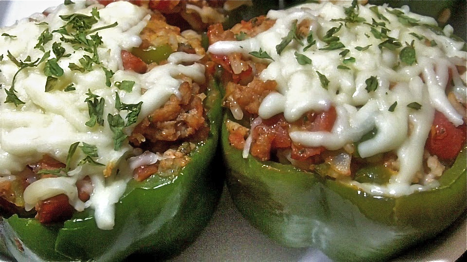Cheesy Meaty Stuffed Bell Peppers Recipe Family Favorite