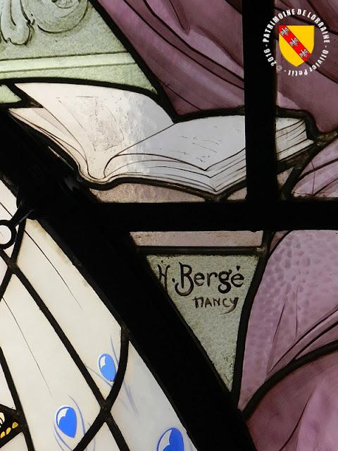 """NANCY (54) - Musée de l'Ecole de Nancy : Vitrail """"La Lecture"""" d'Henri Bergé"""
