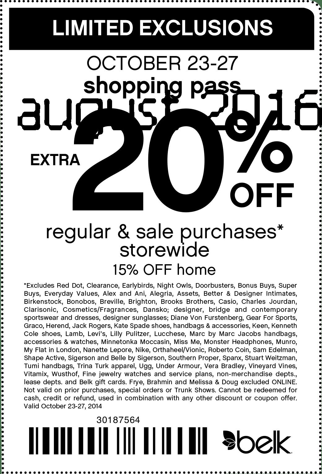 Free Printable Coupons: Belk Coupons