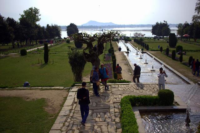 dal lake srinagar kashmir india nishat