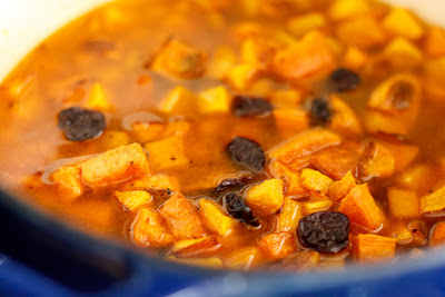 Roasting the squash and sweet potatoes caramelizes them and brings out ...