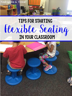 Flexible seating has made a big impact on my kindergarten classroom environment over the past two years.  Check out these tips and ideas for getting started with flexible seating in your classroom!
