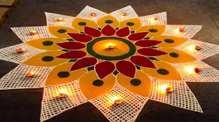 smple rangoli design