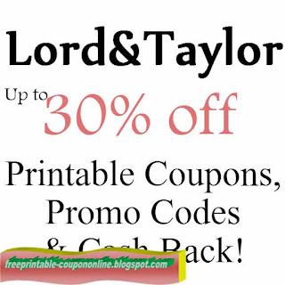 Free Printable Lord & Taylor Coupons