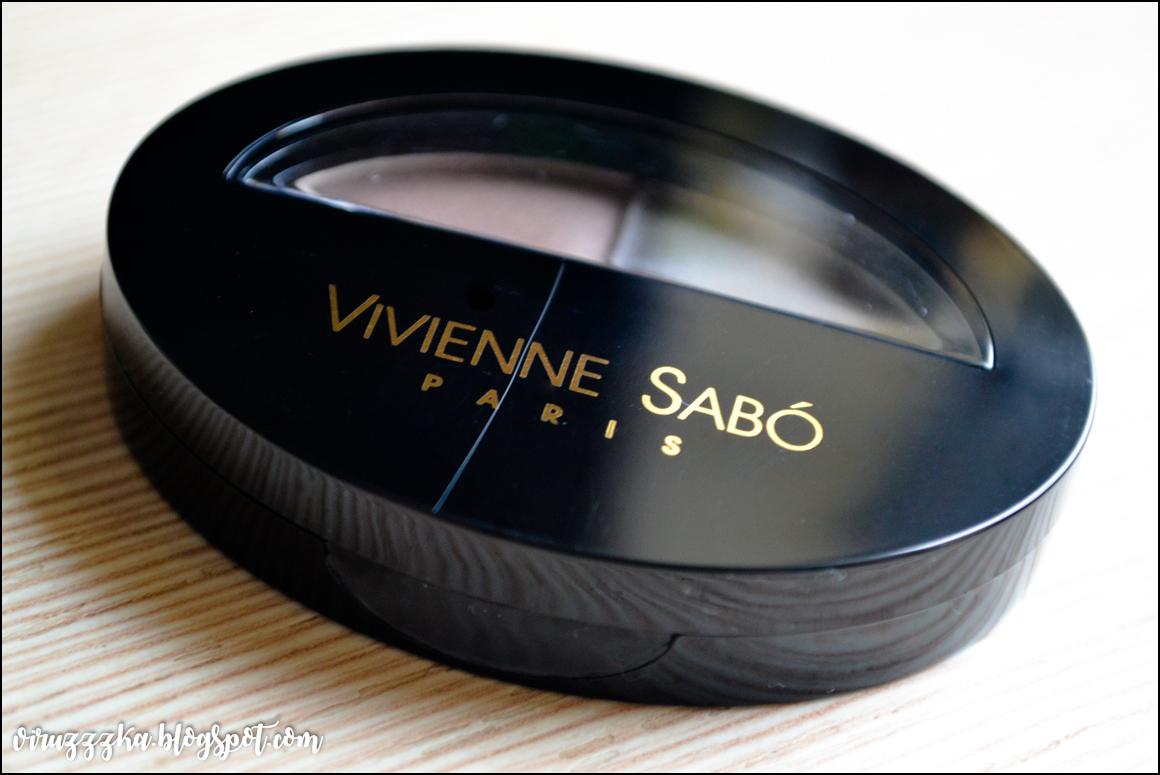 Тени для бровей Vivienne Sabo Brow Arcade оттенок 03 отзыв свотчи
