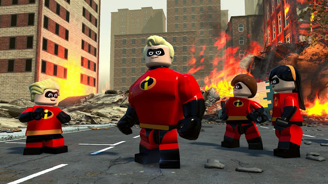 LEGO The Incredibles Family In the Streets