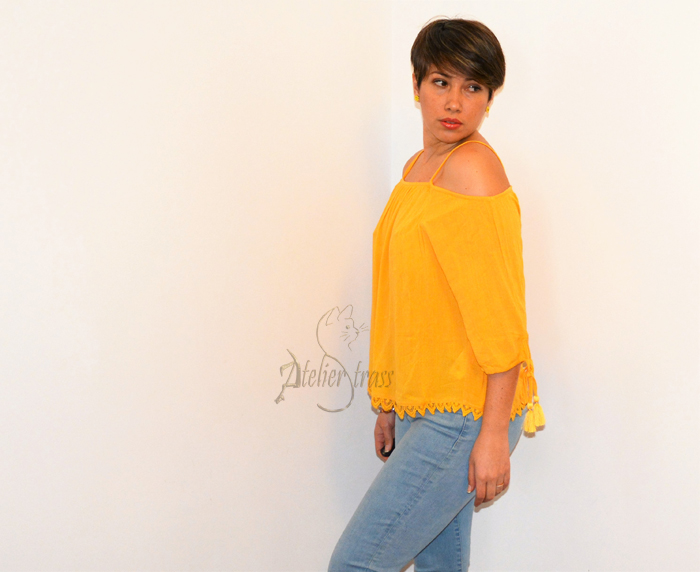 top amarillo off shoulder