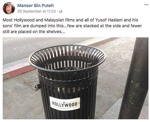 Respon Yusof Haslam Selepas Filem Keluarannya Dan Anaknya Dilabel Sampah Oleh Mansor Bin Puteh, Pengkritik Kontrovesi