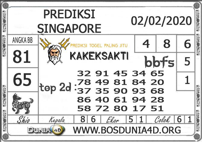 PREDIKSI TOGEL SINGAPORE DUNIA4D 02 FEBRUARI 2020