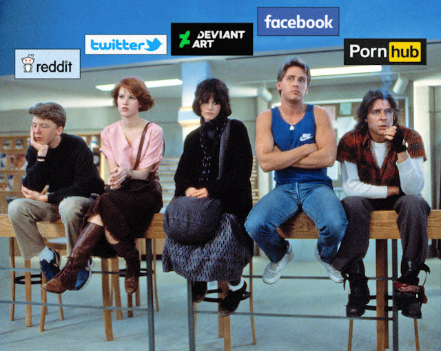 THE BREAKFAST CLUB CAST AS SOCIAL MEDIA SITES