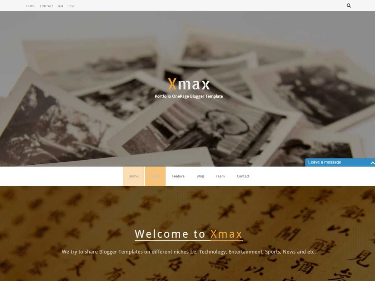 XMax One Page Responsive Blogger Template