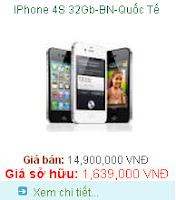Tra gop Iphone 4s 32GB