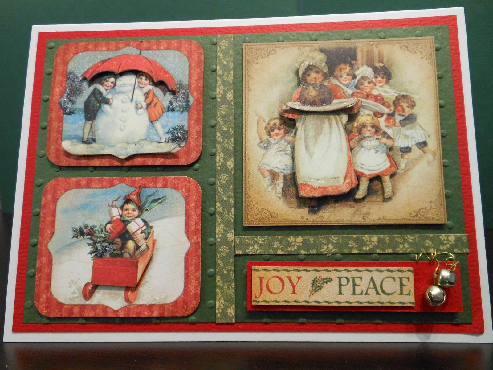 Madeline S Memories Vintage Christmas Cards: G45 Vintage Christmas Cards, With Bonnie