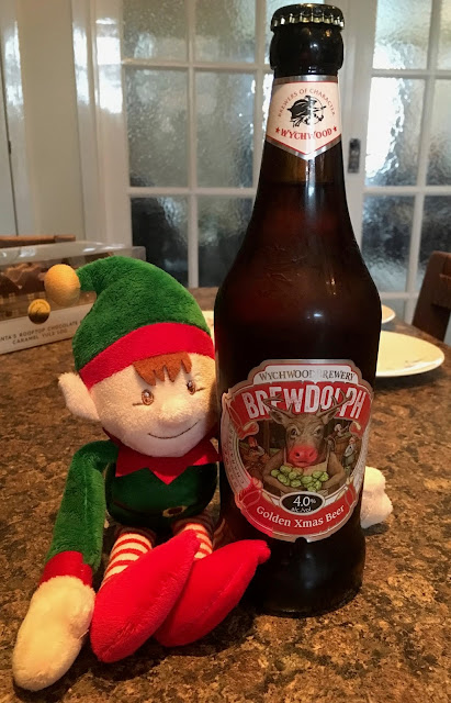 Brewdolph Golden Xmas Beer featuring Elf on the Shelf