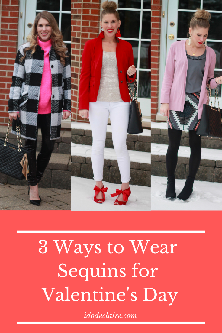 3 Ways to Wear Sequins for Valentine's Day