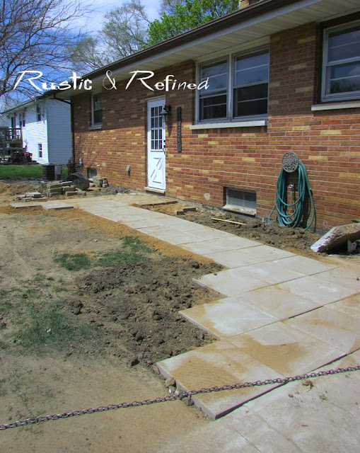 Adding a new sidewalk for a quick weekend diy project