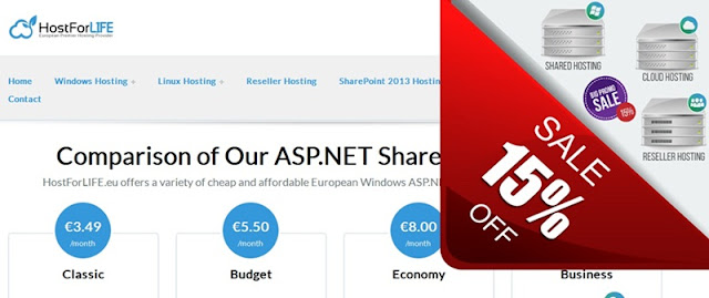 http://hostforlifeasp.net/ASPNET-Shared-European-Hosting-Plans.aspx