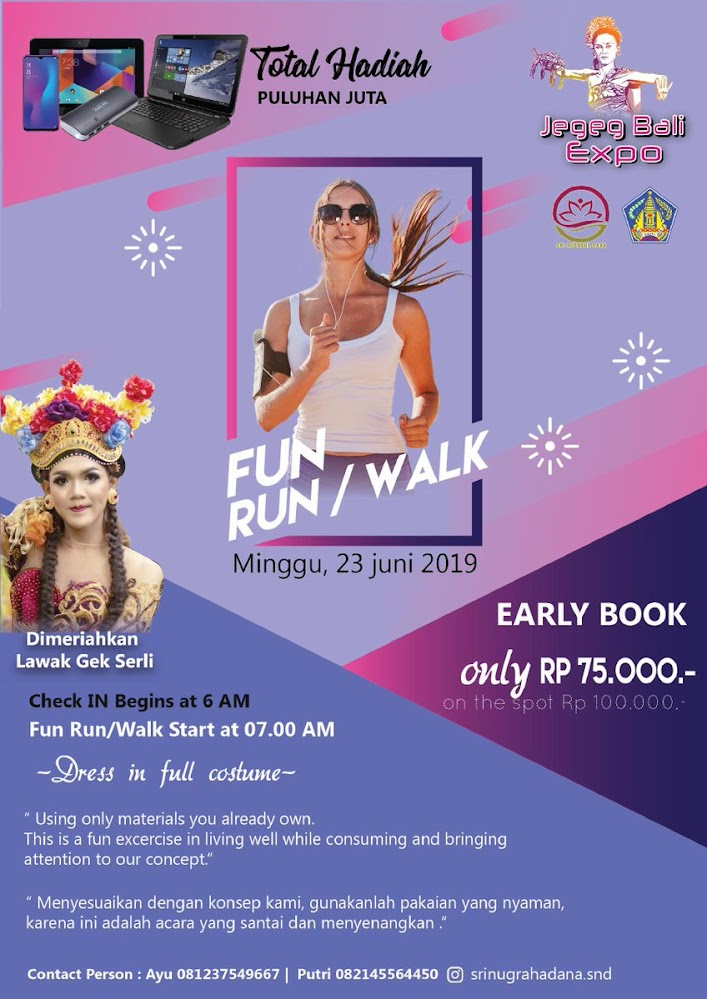 Jegeg Bali Expo - Fun Run/Walk • 2019