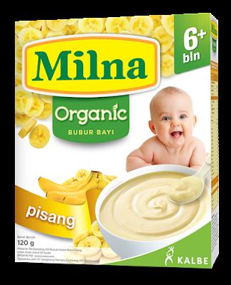 Milna Bubur Bayi Organik varian pisang