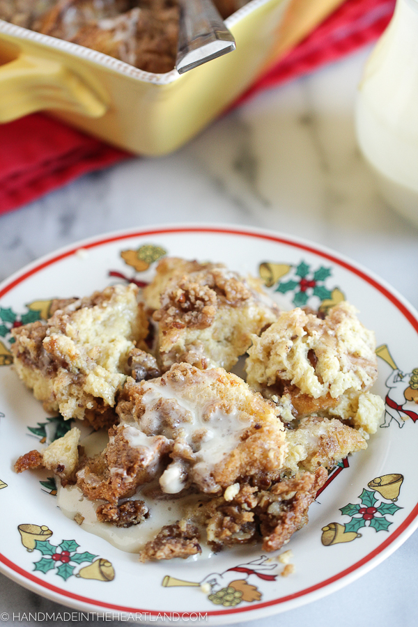 easy recipe for egg nog french toast casserole