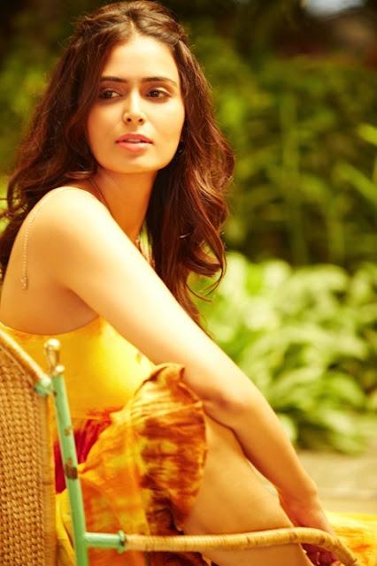 Meenakshi Dixit Latest Hot Glamourous Spicy Yellow Sleveless Tops PhotoShoot Images