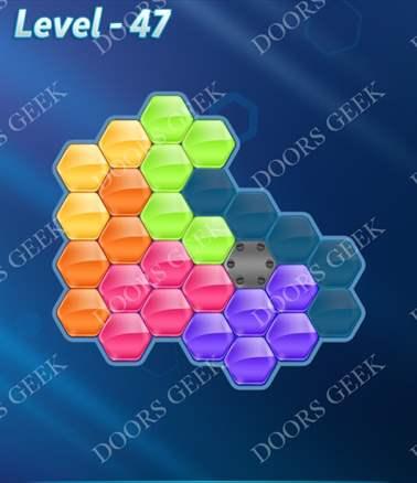Block! Hexa Puzzle [Intermediate] Level 47 Solution, Cheats, Walkthrough for android, iphone, ipad, ipod