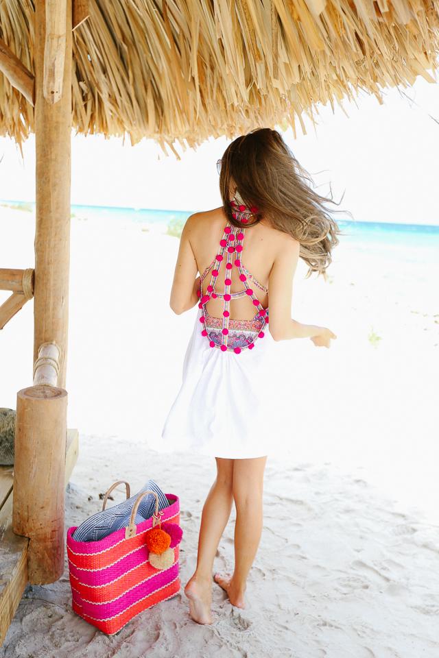 pom pom beach cover-up