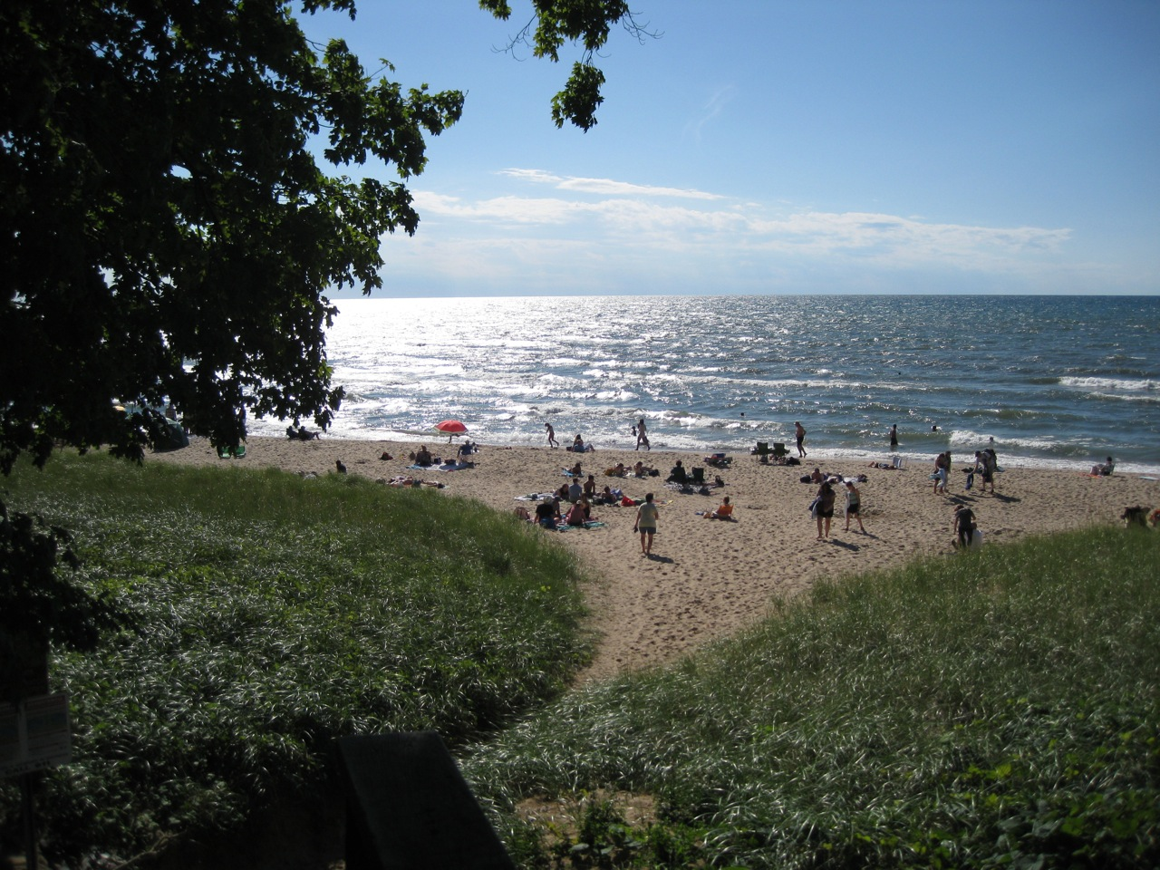 Douglas Beach Is A Small Public Just Outside Of Saugatuck Mi Over An Hour S Drive From Kalamazoo Access Down Steep Flight Stairs