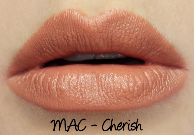 MAC Cherish Lipstick Swatches & Review
