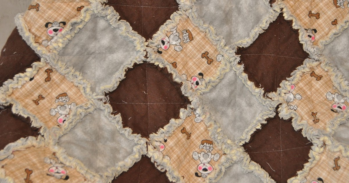 Richard And Tanya Quilts Puppy Dog Rag Quilt