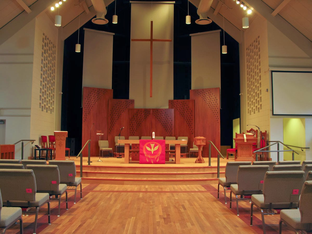 The new Sanctuary at Asbury and West United Church