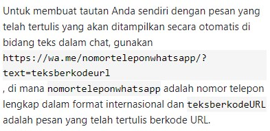 aplikasi whatsapp tanpa save nomor