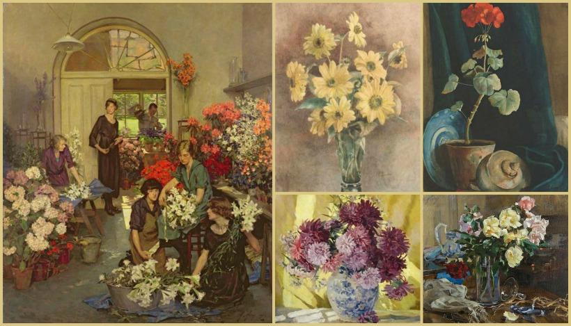 Anna Airy pintura y dibujos flores