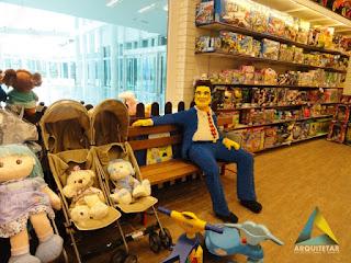 projeto de arquitetura loja brinquedos mobiliário interno