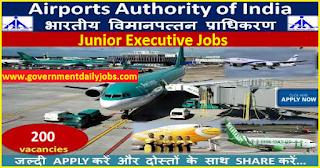 Airport Authority of India Recruitment 2017 for 200 Junior Executives