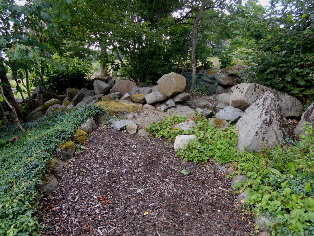 Parte alta del giardino