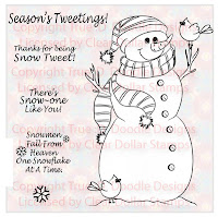Snow Tweet Digital Stamp
