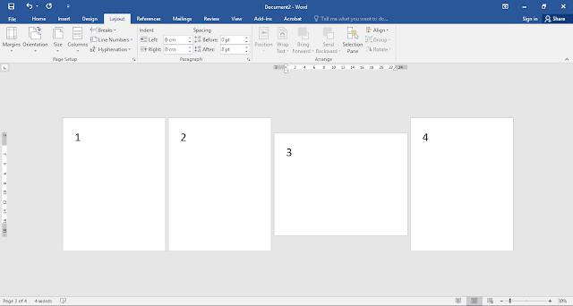 membuat orientasi lembar dokumen yang berbeda-beda