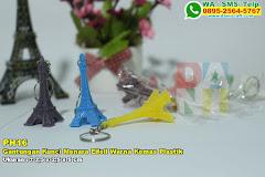 Gantungan Kunci Menara Eifell Warna Kemas Plastik