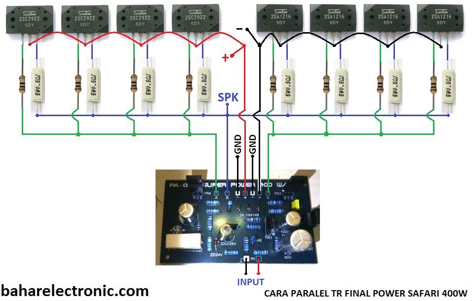 Cara Paralel TR Final Power Safari 400W - Bahar Electronic