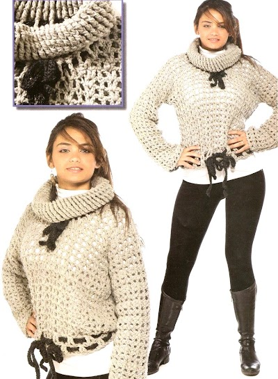 Jersey tejido en redondo ganchillo-tricot