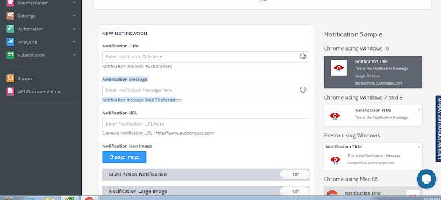send web push notification
